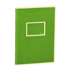 Exercise Book (A5) with a Tag to personalize, ruled, lime