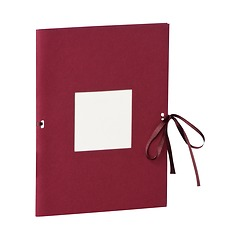 Photo booklet, portrait format, 10 sheets, 10 x 15cm, burgundy