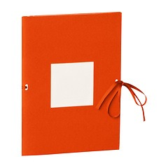 Photo booklet, portrait format, 10 sheets, 10 x 15cm, orange