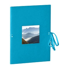 Photo booklet, portrait format, 10 sheets, 10 x 15cm, turquoise
