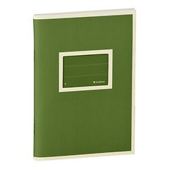 Exercise Book (A6)  with a tag to personalize the book, 96 pages, plain, irish
