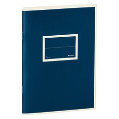 Exercise Book (A5) with a Tag to personalize, 96 pages, plain, marine