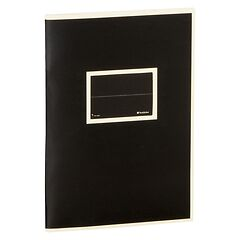 Exercise Book (A5) with a Tag to personalize, 96 pages, plain, black