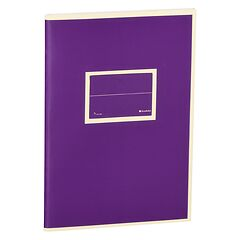 Exercise Book (A5) with a Tag to personalize, 96 pages, plain, plum
