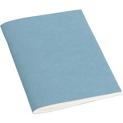 Journal with laid paper (A6) 64 pages, ruled, ciel