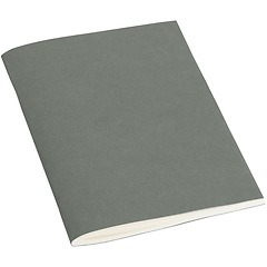 Filigrane Journal A6 with laid paper, 64 pages, ruled, grey