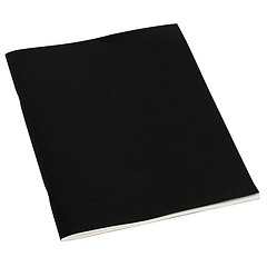 Filigrane Journal A4 with laid paper, 64 pages, ruled, black