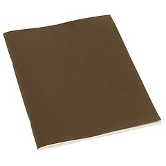 Filigrane Journal A4 with laid paper, 64 pages, ruled, brown