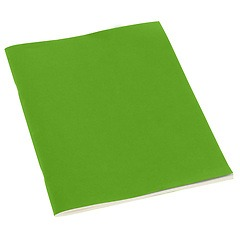 Filigrane Journal A4 with laid paper, 64 pages, ruled, lime