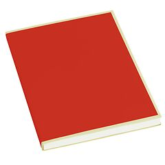 Paperpad (A5) 100 sheets, 80g/m², red