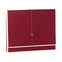 Accordion, file folder with 12 pockets, elastic band closure, burgundy