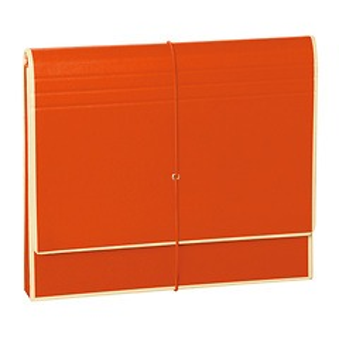 Accordion, file folder with 12 pockets, elastic band closure, orange