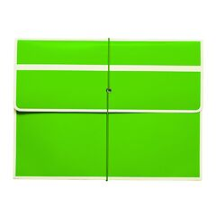 Document File with elastic band closure, brown
