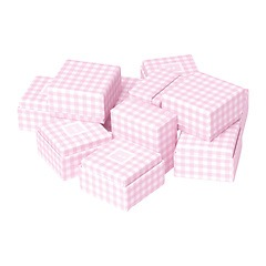 Little Gift Boxes - (Set of 12) Vichy pink