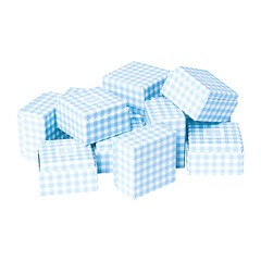 Little Gift Boxes - (Set of 12) Vichy blue