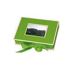 Small Photobox with cut out window, lime