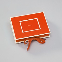 Small Photobox with cut out window, orange