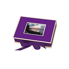 Small Photobox with cut out window, plum
