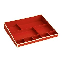 Desktop Organizer, 9 compartments, red