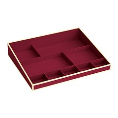 Desktop Organizer, 9 compartments, burgundy