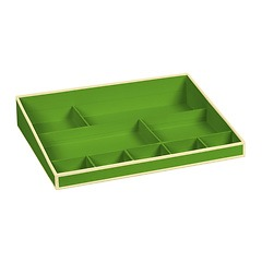 Desktop Organizer, 9 compartments, lime
