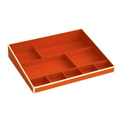 Desktop Organizer, 9 compartments, orange