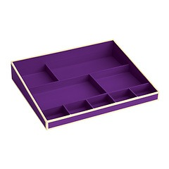 Desktop Organizer, 9 compartments, plum