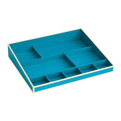 Desktop Organizer, 9 compartments, turquoise
