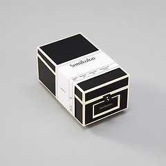 Business Card Box with 3 variable tabs and index cards A-Z, black