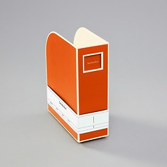 Magazine Box (A4) and letter size, orange