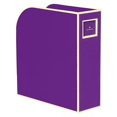 Magazine Box (A4) and letter size, plum