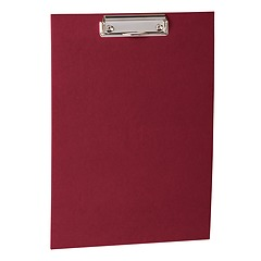 Clipboard with metal clip, efalin cover, burgundy