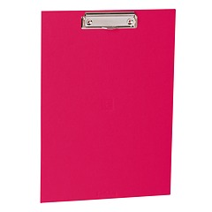 Clipboard with metal clip, efalin cover, pink