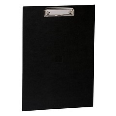 Clipboard with metal clip, efalin cover, black