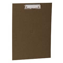 Clipboard with metal clip, efalin cover, brown