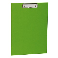 Clipboard with metal clip, efalin cover, lime