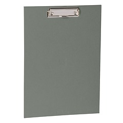 Clipboard with metal clip, efalin cover, grey