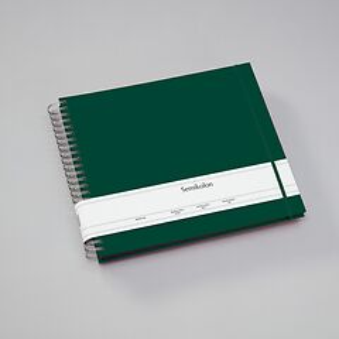 Maxi Mucho Album Cream, 90 cream pages, book linen cover, red