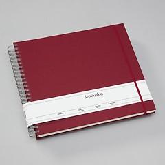 Maxi Mucho Album Cream, 90 cream pages, book linen cover, burgundy