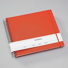 Maxi Mucho Album Cream, 90 cream pages, book linen cover, orange