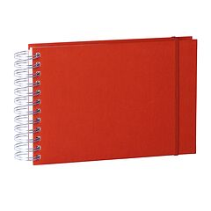 Mini Mucho Album Cream, 90 cream pages, book linen cover, red