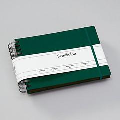 Mini Mucho Album Cream, 90 cream pages, book linen cover, brown