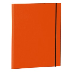 Clip Folder with metal clip,pen loop, elastic band (A4) & letter size,efalin cover, orange