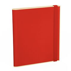 Clip Folder with 3 pockets, metal clip and elastic band (A4) and letter size, red