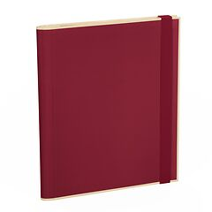 Clip Folder with 3 pockets, metal clip and elastic band (A4) and letter size, burgundy