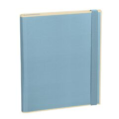 Clip Folder with 3 pockets, metal clip and elastic band (A4) and letter size, ciel