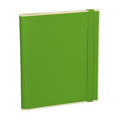 Clip Folder with 3 pockets, metal clip and elastic band (A4) and letter size, lime