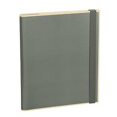 Clip Folder with 3 pockets, metal clip and elastic band (A4) and letter size, grey