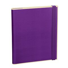 Clip Folder with 3 pockets, metal clip and elastic band (A4) and letter size, plum