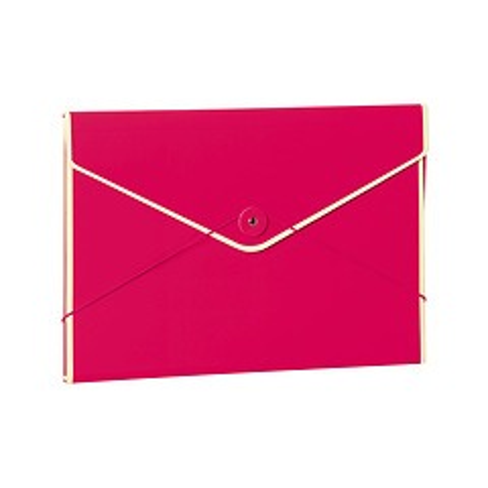 Envelope Folder with elastic band closure, pink